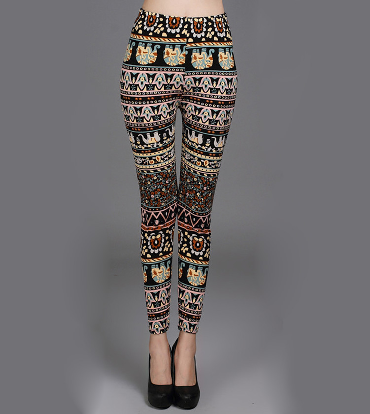 Ethnic floral leggings wholesale