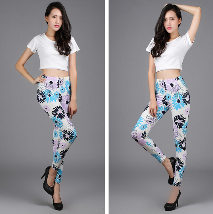Graffiti ink ladies leggings wholesale