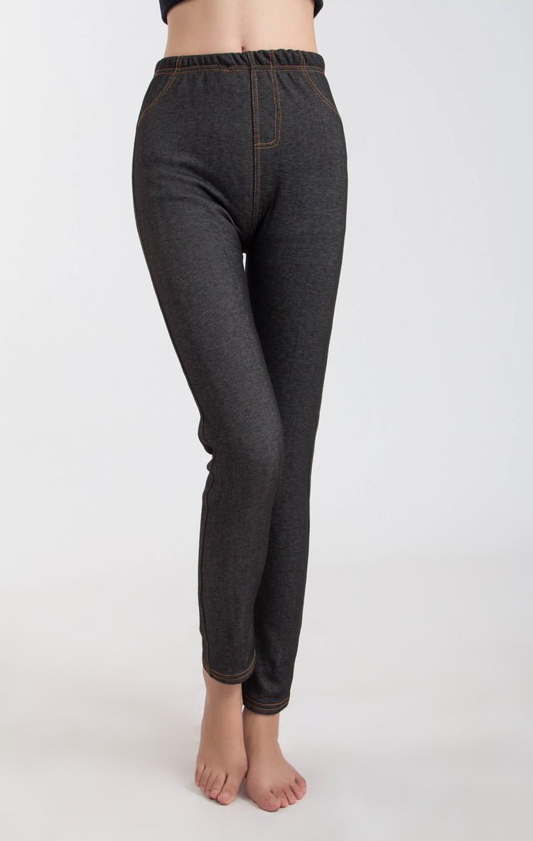 Black jean leggings wholesale china leggings