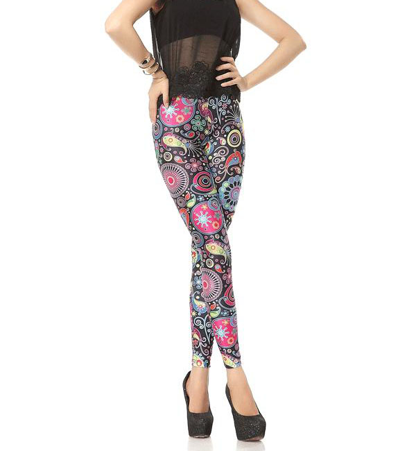 Wholesale color pattern girls leggings china leggings
