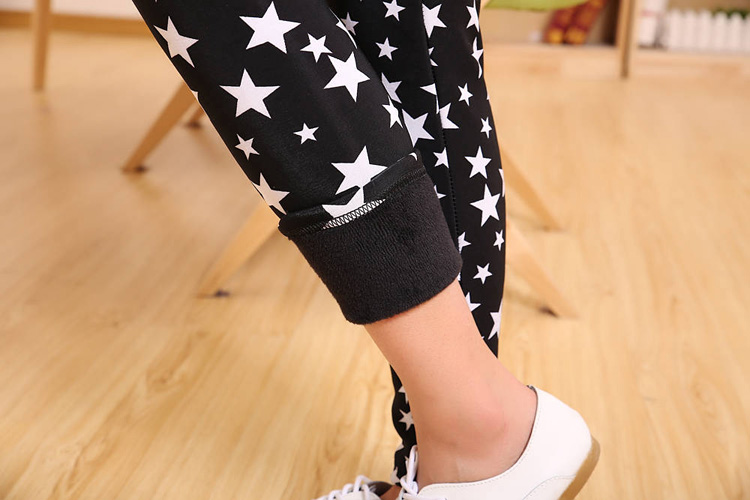 Pattern sweater leggings