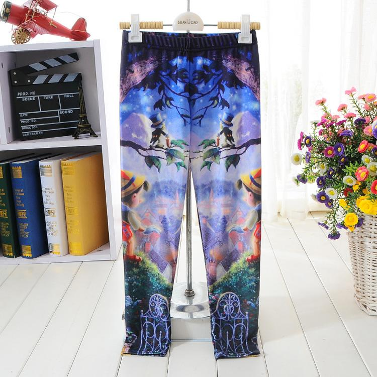 Children patterned leggings