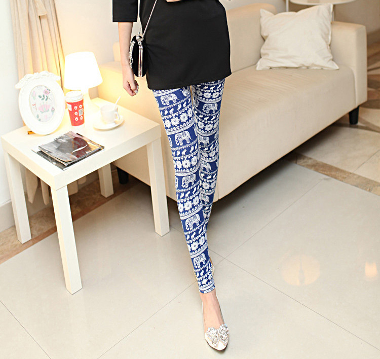 Wholesale milk silk floral printing leggings