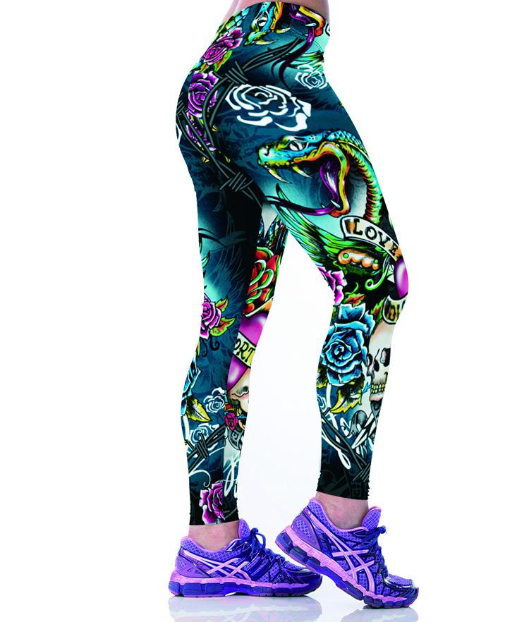 2016 Women American Football Pattern 3d Leggings Stretch: Skull Print Pants China Leggings