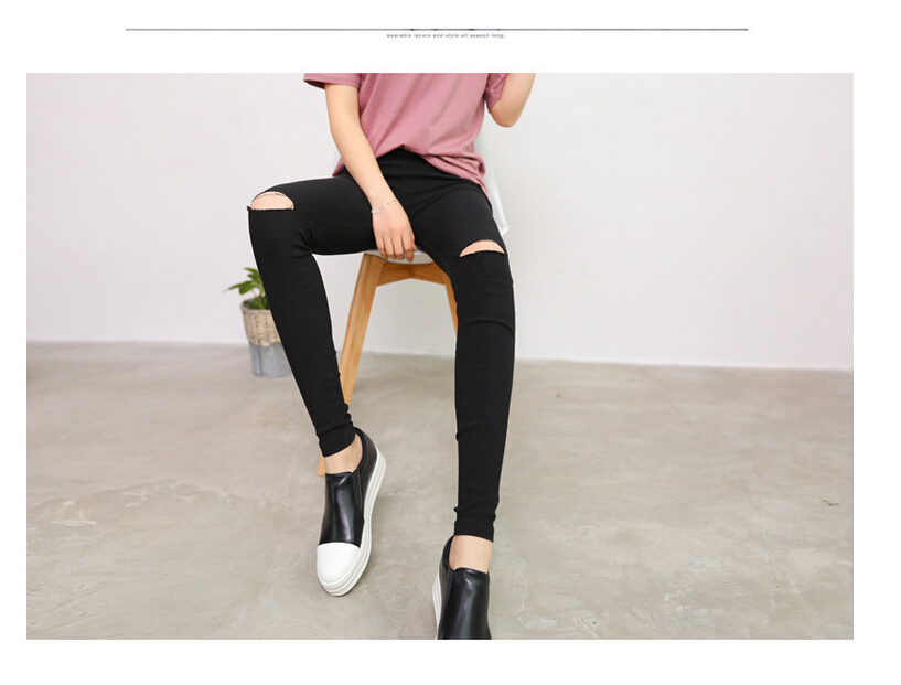 how to fix hole in knee of leggings