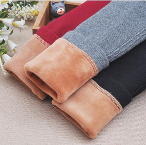 Girls pure color velvet leggings wholesale
