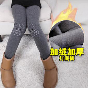 Girls kids cotton wool thick legging wholesale