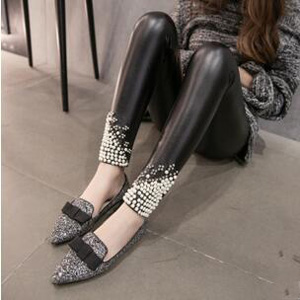 Nail bead rivet luster leggings wholesale