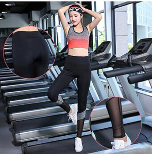Double color stitching quick-drying yoga sports pants wholesale