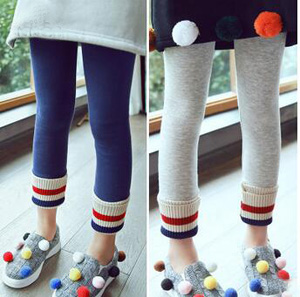 Girls velvet thread convergent warm leggings wholesale