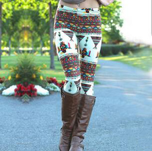 Printed Christmas Halloween stretch tight leggings