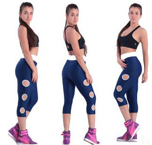 Female side hole carry buttock sports pants wholesale