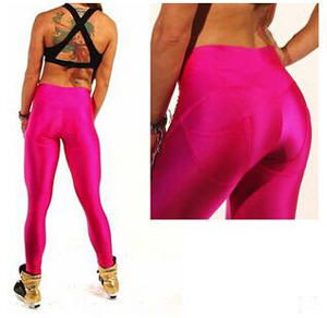 Pure color lines carry buttock fitness pants wholesale
