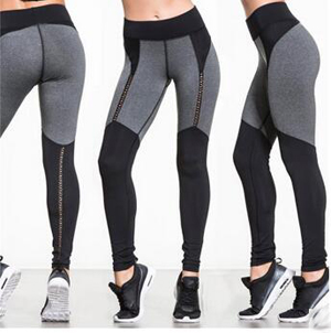 Hollow out stitching color matching sports fitness yoga leggings wholesale