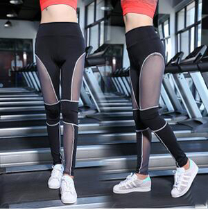 Outdoor mesh yarn splicing sports pants wholesale