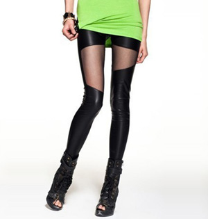 Stretch pu leather leggings
