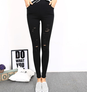 Wholesale hole leggings