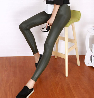 Light leather pants