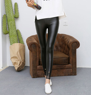 Wholesale lace leather pants