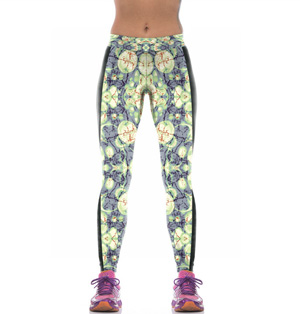 Yoga floral leggings wholesale