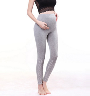 Cotton maternity leggings