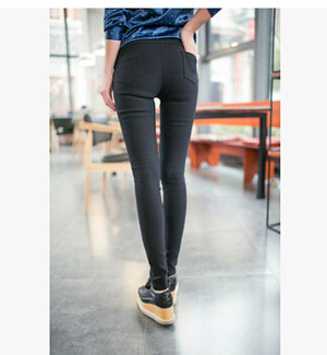 Wholesale female stretch tight leggings with pocket
