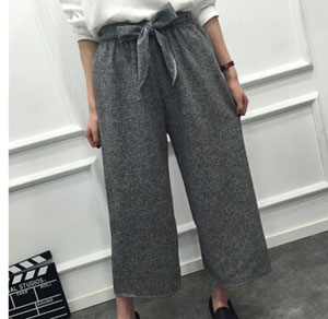 Straight easing of tall waist wide-legged pants wholesale