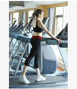 Milk silk yoga pants female seven color matching lift arm leggings wholesale