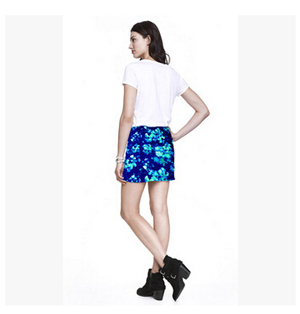 Print female 40cm length hip skirt wholesale