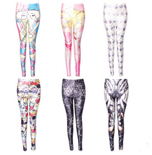 Printing high elastic female leggings wholesale