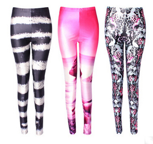Printing tight breathable leggings female yoga sports pants wholesale
