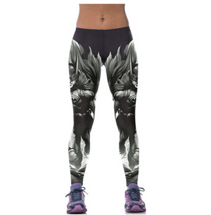 Digital printing female batman pattern sports fitness yoga pants wholesale