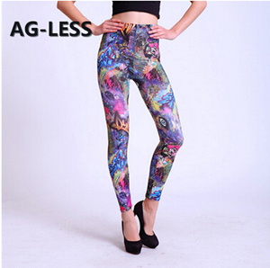 Animated cartoon English letters leggings wholesale