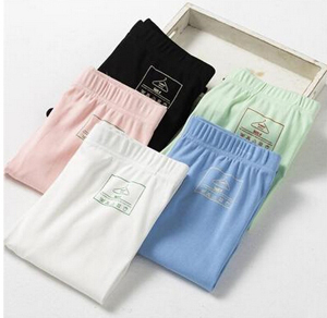 Show thin cotton spandex candy color pencil pants wholesale