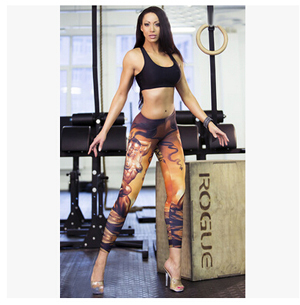 Leisure fitness muscle female leggings wholesale