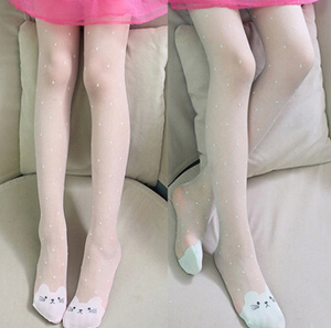 Childrens tights kitten pattern thin silk stockings wholesale