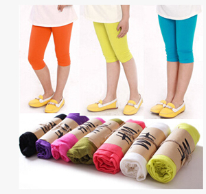 Childrens candy color 7 minutes modal leggings wholesale