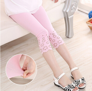 Cut flower girls Cotton 7 minutes leggings wholesale
