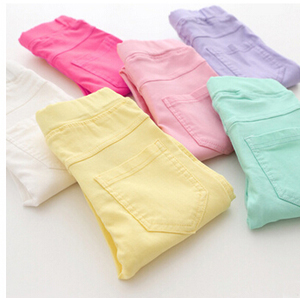 Candy color girls tight leggings wholesale