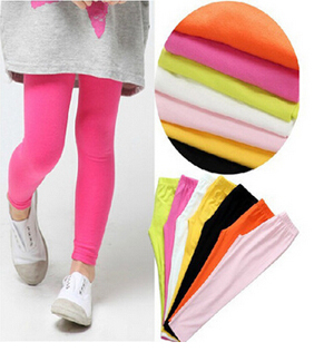 Modal girls nine points children joker candy color leggings wholesale