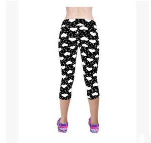 Love pattern 7 minutes female pencil pants wholesale