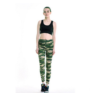 Women colorful camouflage leggings wholesale