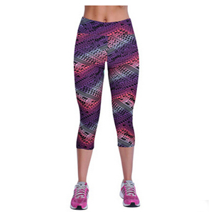 Fresh purple women 7 minutes leggings wholesale