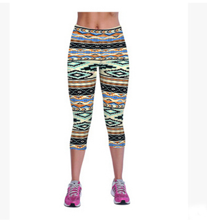 Color mosaics women leggings 7 minutes pants wholesale