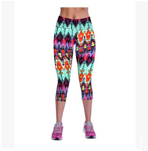 Printed restoring ancient ways women leggings 7 minutes pants wholesale