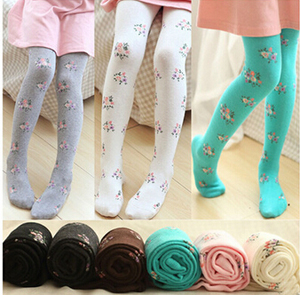 Small calico cotton children dance tights wholesale