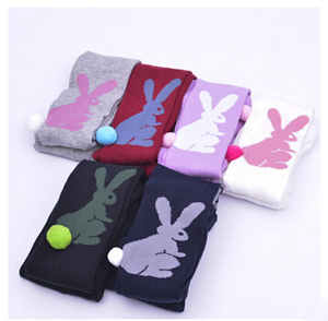 Wholesale cartoon rabbit children cotton knitting gears leggings
