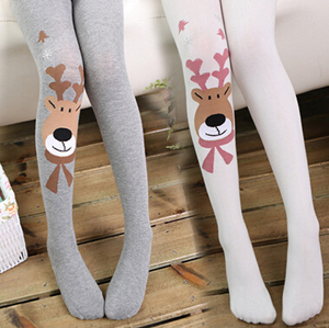 Lovely fawn splicing children render tights wholesale