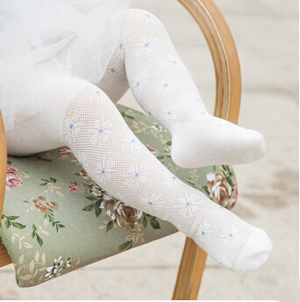 Cotton baby hollow out children pantyhose wholesale