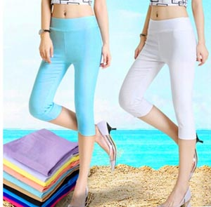 Candy color pencil pants female 7 minutes pants wholesale